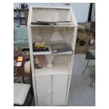 Wicker Cabinet and Contents