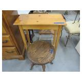 Wooden Stool and Decorative Table