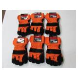 6 pairs of Split leather gloves