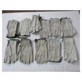 Hide Gloves XL 10 Pairs