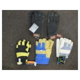 5 pairs of gloves different styles