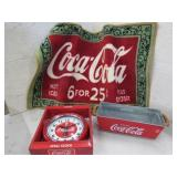 Coca Cola Mat, Clock Tin