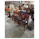 Lot of 4 armchairs