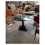 Round glass top table by henredon
