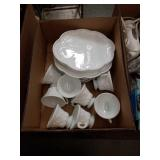 Box of cups and dishes
