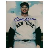 8 by 10 Mickey Mantle hand-signed