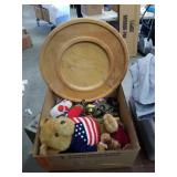Box of lazy Susan and Teddy bears