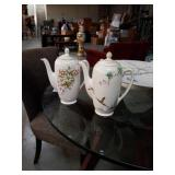Pair of Royal doulton teapots Bush Flowers and The