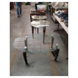 3 mod.  Glass top tables