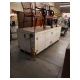 Large workbench cabinet on wheels