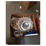Box of silver plated Ware