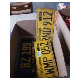 Box with California license plates