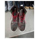 Pair of size 12 camouflage  Timberland high tops