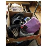 Box of diving gear