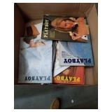 Box of vintage PlayBoy magazines