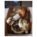Box of glass ware etc