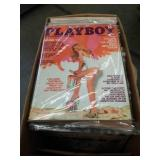 Box of vintage PlayBoy magazines