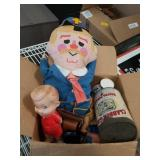 Box of old dolls etc