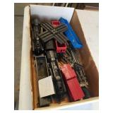Box of trains and tracks