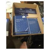 Box of three Whitman folders of Lincoln pennies