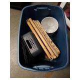 Tub of picture and miscellaneous baskets