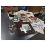 Box of paper goods, table linen   etc