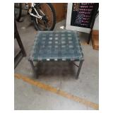 Patio glass top side table