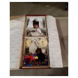 Precious heirloom doll with a few beanie baby