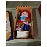 Raggedy Ann and raggedy bear dolls anniversary