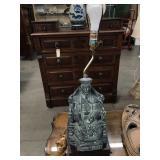 Asian style figurine lamp