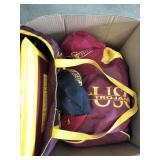 Lot of usc Trojan hats/bags/cushion