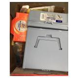 Box of check files/cleaning products