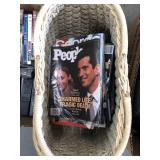 Basket full of 90s magazines