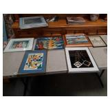 Box of pictures and paintings