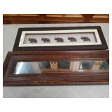 Bundle of elephant wall plaque and wall mirror