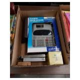 Box of calculator and miscellaneous