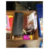 Box of size 11 shoes long Johns and miscellaneous