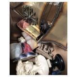 Box of miscellaneous sculptures