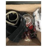 Box of Ralph Lauren/Chanel boots, Waterford glass