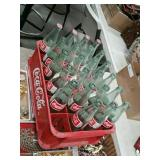 case of coke bottles with plastic coca-cola Tray