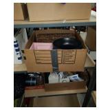 Box of basket and bowls