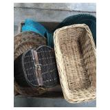 Box of baskets and placemats