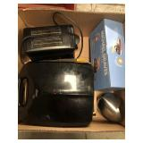 Box with toaster, waffle maker, mandoline design