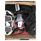 Box of Jordan slides, tko gloves