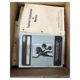 Box of military manuals