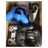 Box of  gaming controllers