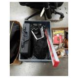 Crate of tools and truck bed net