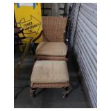 RATTAN chair in autumn and