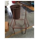 Old metal chair  Frame