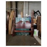 Queen size poster bed With rails